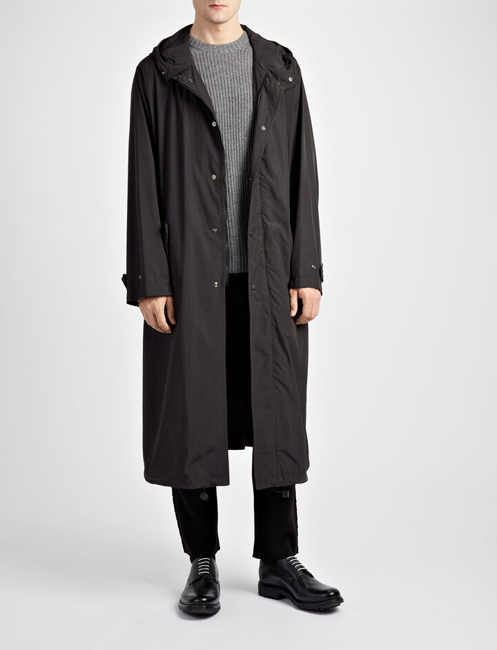 Packable Nylon Dorset Coat, in BLACK, large | on Joseph